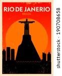Typographic Rio De Janeiro Cit...