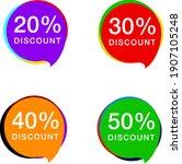 discount price sale bubble... | Shutterstock .eps vector #1907105248