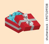 red surprise gift box with...
