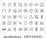 cyber security icon set over... | Shutterstock .eps vector #1907134432