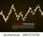stock market with glowing... | Shutterstock .eps vector #1907173735
