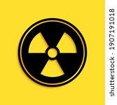 Black Radioactive Icon Isolated ...