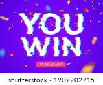 retro game glitch win score...   Shutterstock .eps vector #1907202715