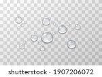 vector water drops. png drops ... | Shutterstock .eps vector #1907206072