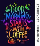 vector poster with good morning ... | Shutterstock .eps vector #1907208625