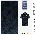 fabric pattern design. mosaic... | Shutterstock .eps vector #1907211898