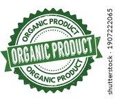 organic product grunge rubber... | Shutterstock .eps vector #1907222065