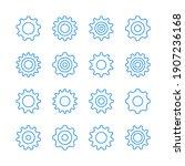 cogs icons. cogwheels  gears... | Shutterstock .eps vector #1907236168