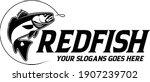 redfish fishing logo template.  ...   Shutterstock .eps vector #1907239702