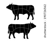 beef cut or cuts of beef vector   Shutterstock .eps vector #190726562