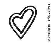 hand drawn valentine day heart... | Shutterstock .eps vector #1907285965