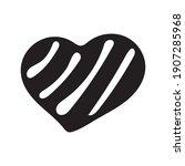 hand drawn valentine day heart... | Shutterstock .eps vector #1907285968