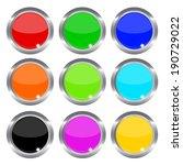 vector illustrations of glossy... | Shutterstock .eps vector #190729022