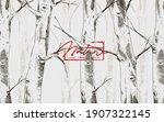 birch tree forest template... | Shutterstock .eps vector #1907322145