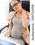 tired pregnant woman. depressed ... | Shutterstock . vector #190732958