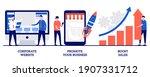 corporate website  promote your ... | Shutterstock .eps vector #1907331712