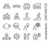 business teamwork set icon.... | Shutterstock .eps vector #1907334715