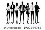 vector material  silhouettes of ... | Shutterstock .eps vector #1907344768
