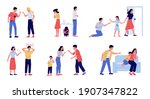 abuse. family conflict with... | Shutterstock .eps vector #1907347822