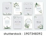 wedding cards. invitations to... | Shutterstock .eps vector #1907348392