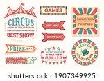 circus vintage banner. carnival ... | Shutterstock .eps vector #1907349925