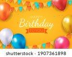 realistic 3d balloon background ...   Shutterstock .eps vector #1907361898