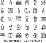 food line icon set   beer  milk ...   Shutterstock .eps vector #1907378065