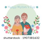 mother's day comic characters... | Shutterstock .eps vector #1907381632