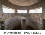Inside Of Old Bunker From World ...