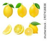 closeup  lemon  template  on...   Shutterstock . vector #1907418838