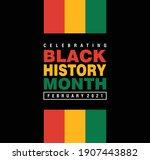 black history month february... | Shutterstock .eps vector #1907443882