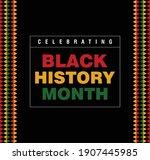black history month 2021....   Shutterstock .eps vector #1907445985