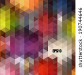 abstract geometric background... | Shutterstock .eps vector #190744646