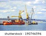 bunker ship  fuel replenishment ... | Shutterstock . vector #190746596