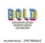 3d modern font  trendy bright...   Shutterstock .eps vector #1907480662