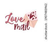 valentine's day card with...   Shutterstock .eps vector #1907483962