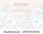 vintage card with magnolia... | Shutterstock .eps vector #1907554435