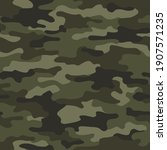 camouflage texture seamless... | Shutterstock .eps vector #1907571235