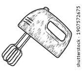 Electric Mixer. Engraving...