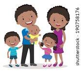 happy family portraits. happy... | Shutterstock .eps vector #190758176
