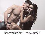 sexy beauty couple .portrait of ... | Shutterstock . vector #190760978