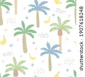 seamless pattern with tropical... | Shutterstock . vector #1907618248