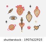 stylish vector set of trendy... | Shutterstock .eps vector #1907622925
