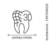 digital dentistry linear icon.... | Shutterstock .eps vector #1907658232