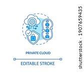 private cloud concept icon.... | Shutterstock .eps vector #1907659435
