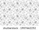 seamless pattern of various... | Shutterstock .eps vector #1907662252