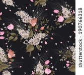 seamless floral pattern with... | Shutterstock .eps vector #190766318