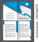 vector empty bi fold brochure... | Shutterstock .eps vector #190766375
