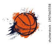 basketball ball  sport basket...   Shutterstock .eps vector #1907665558