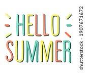 vector trending handwritten... | Shutterstock .eps vector #1907671672